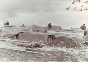Čiapų namo statyba. 1957 metai. Iš Čiapų archyvo.