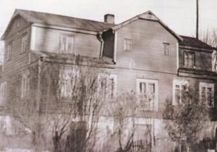 Petrauskų namas. 1978 metai. Dabar čia Petravičiaus namai. Prie sankryžos į Grajauskus. Iš S.Bakanausko archyvo.